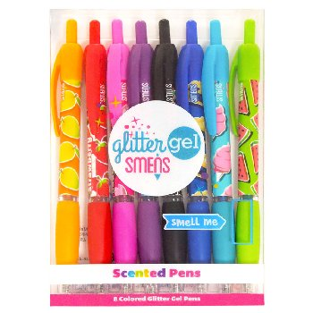 Glitter Gel Smens Scented Pens - Set of 4