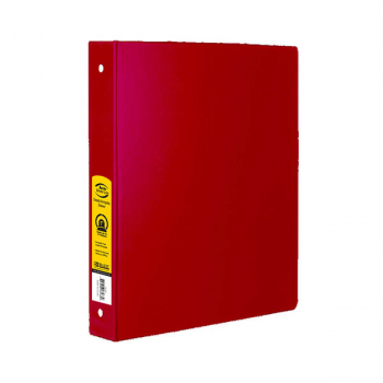 "Binder - 3-Ring 1"" wide with Pockets (Red)"