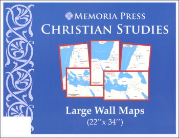 "Christian Studies Large Wall Maps (22"" x 34"")"