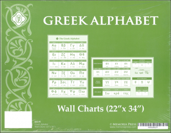 "Greek Wall Charts (2 Charts/Set 22"" x 34"")"