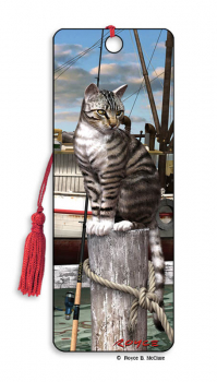 Wharf Cat 3D Bookmark