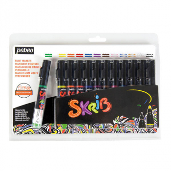 Skrib Acrylic Paint Markers - Classic (set of 12)