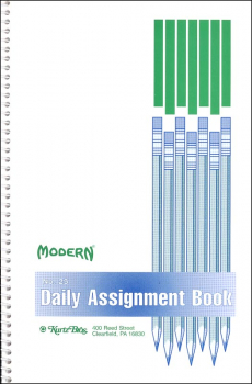 "Modern Daily Assignment Book No. 25 (5 1/2"" x 8 1/2"")"