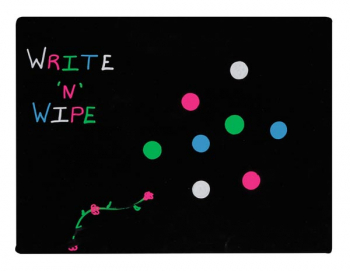 "Black Write N Wipe Dry-Erase Board (9"" x 12"")"