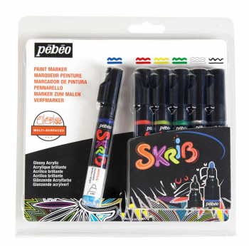 Skrib Acrylic Paint Markers - Classic (set of 6)