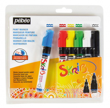 Skrib Gouache Paint Markers - Classic (set of 6)