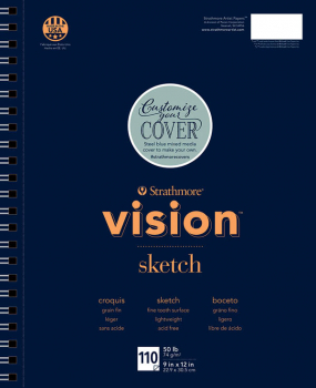 "Strathmore Vision Sketch Pad 11"" x 14"" (110 sheets)"