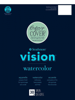 "Strathmore Vision Watercolor Pad 11"" x 15"" (30 sheets)"