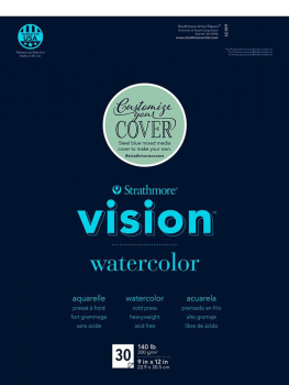 "Strathmore Vision Watercolor Pad 9"" x 12"" (30 sheets)"