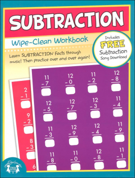 Subtraction Wipe-Clean Workbook