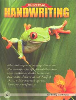 Handwriting Maintenance - Grade 6 (Universal Handwriting Series)