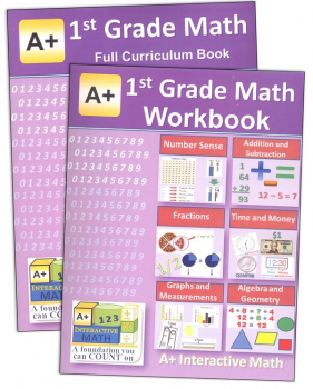 A+ Interactive Math 1st Grade Full Curriculum Textbook & Workbook Bundle