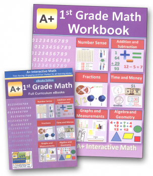 A+ Interactive Math 1st Grade Standard Edition CD Software & Workbook Bundle