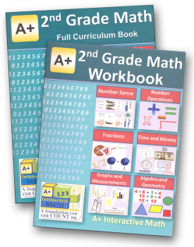 A+ Interactive Math 2nd Grade Full Curriculum Textbook & Workbook Bundle