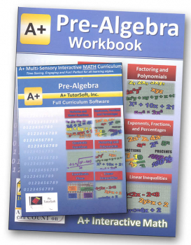 A+ Interactive Math 7th Grade (Pre-Algebra) Premium Edition CD Software & Workbook Bundle