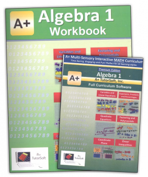 A+ Interactive Math Algebra 1 Premium Edition CD Software & Workbook Bundle
