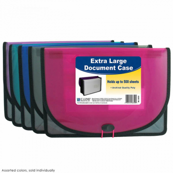 Extra Large Document Case (Assorted Colors)