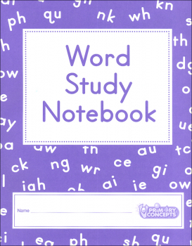 Word Study Notebook