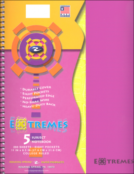 Extremes Five Subject College Ruled Notebook