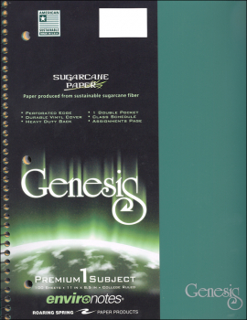 Genesis One Subject College Ruled Notebook