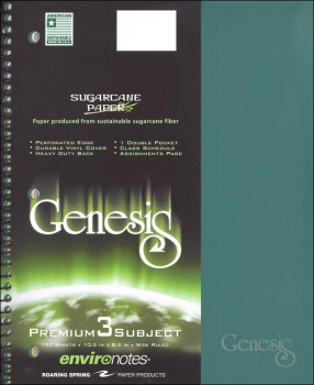 Genesis Three Subject Wide Ruled Notebook