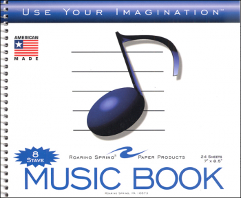 Music Notebook - 8 Stave
