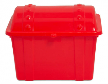 Junior Treasure Chest - Opaque Red