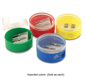 Eisen 2 Hole Round Sharpener with Twist Base Cover - Assorted Color