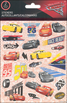 Cars 3 Foldover Stickers (2 Sheets)