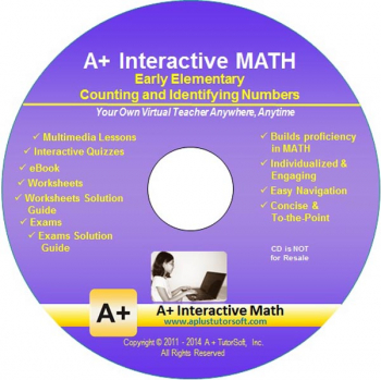 Counting & Identifying Numbers Math CD-ROM (Supplemental Software)