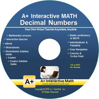 Decimal Numbers Supplemental Math CD-ROM (Supplemental Software)