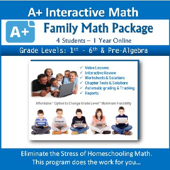 Family Math Package for 4 Students