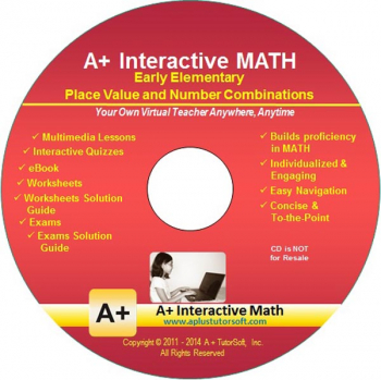 Place Value & Number Combinations Math CD-ROM (Supplemental Software)