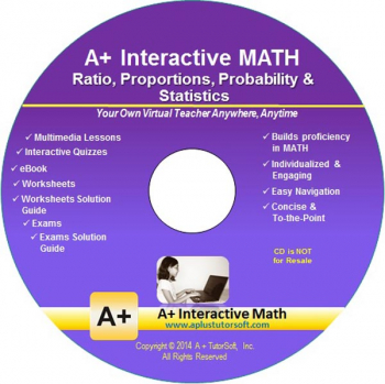 Ratio, Proportions, Probality & Statistics Math CD-ROM (Supplemental Software)