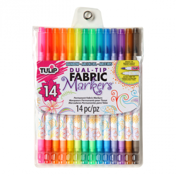 Dual-Tip Fabric Markers (set of 14)