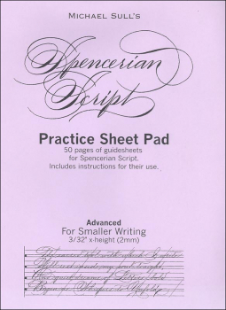 Spencerian Guidesheet Advanced Practice Tablet