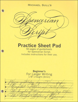 Spencerian Guidesheet Beginner Practice Tablet