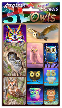 Owls 3D Stickers