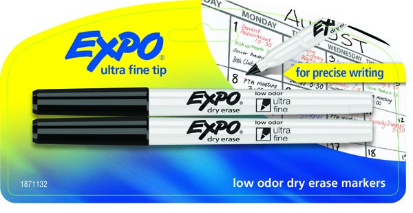 Expo Low Odor Ultra Fine Dry Erase Markers - (2 Black)