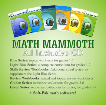 Math Mammoth All Inclusive Package Blue / Light Blue / Golden / Green CD