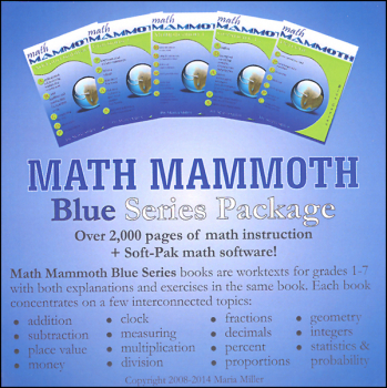 Math Mammoth Blue Series Package CD