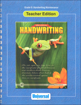 Handwriting Maintenance - Grade 6 Teacher Edition (Universal Handwriting Series)