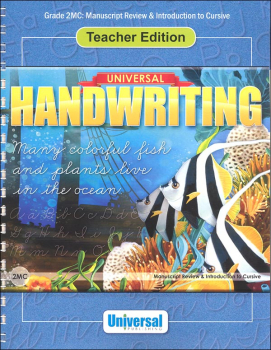 Manuscript Review & Introduction to Cursive - Grade 2MC Teacher Edition (Universal Handwriting Series)