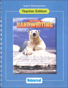 Mastering Cursive - Grade 5 Teacher Edition (Universal Handwriting Series)