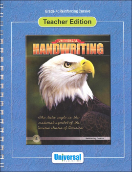 Reinforcing Cursive - Grade 4 Teacher Edition (Universal Handwriting Series)
