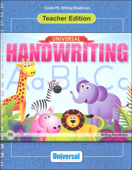 Writing Readiness - Grade PK Teacher Edition (Universal Handwriting Series)