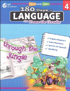 180 Days of Language for Fourth Grade (Practice, Assess, Diagnose)
