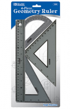 Geometry Ruler Combination Set (4-piece)