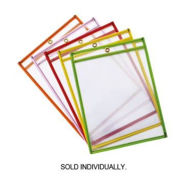 "Dry Erase Pocket Bright Hues Assorted Color (9"" x 12"")"