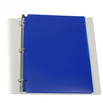 Two-Pocket Poly Portfolio Blue with 3 Hole Punch